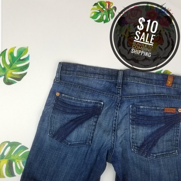 7 For All Mankind Denim - 7 for all mankind crop dojo 27